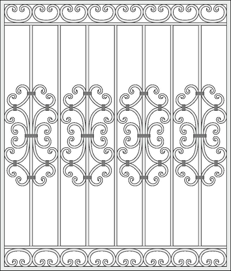 Кованная оконная решетка