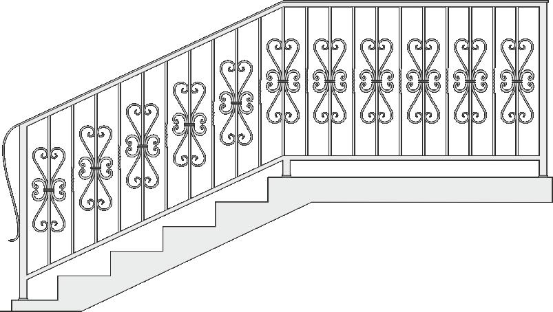 Кованые перила для лестницы