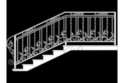 Кованные перила для лестницы